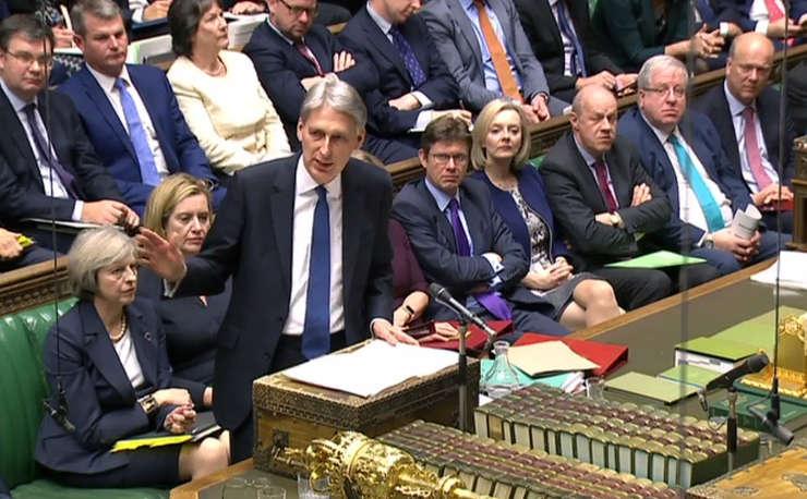 Phillip Hammond în parlament