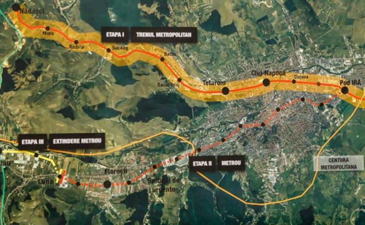 Harta metrou Cluj
