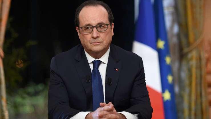 François Hollande, presedintele Frantei, în timpul emisiunii de pe TF1 si France 2 pe 11 februarie 2016