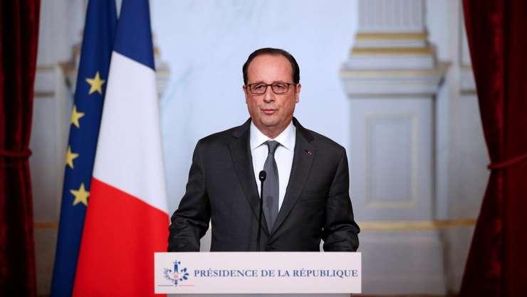 Presedintele Frantei, François Hollande, la palatul Elysée pe 9 noiembrie 2016