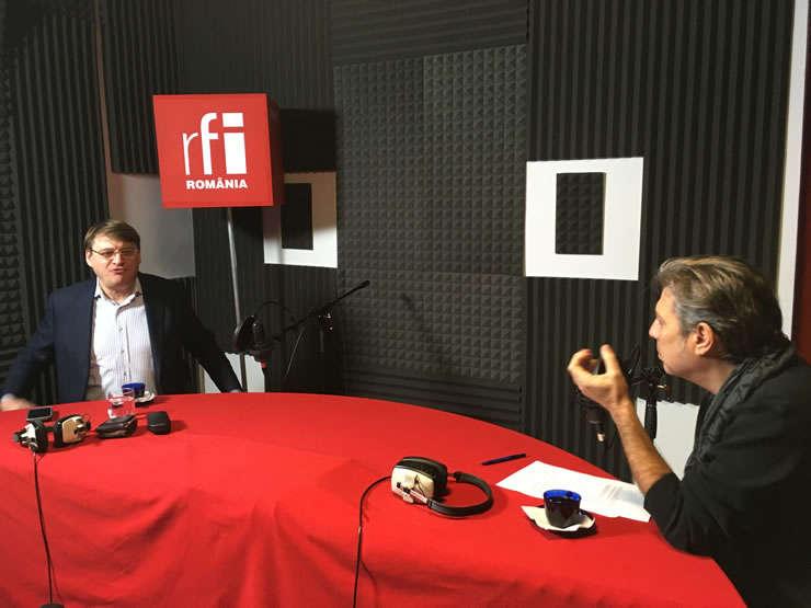 Ion M. Ioniță și Nicolas Don in studioul RFI Romania
