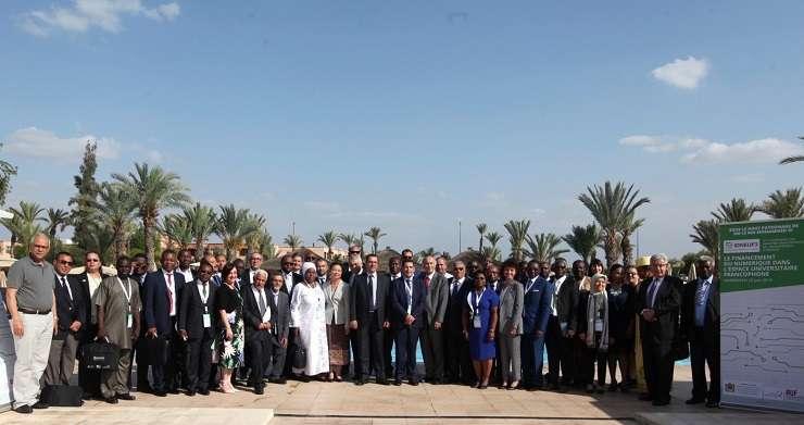 Miniștrii sau reprezentanții acestora la Inițiativa pentru Dezvoltarea Digitalului în Spațiul Universitar Francofon (IDNEUF 3) - Marrakech