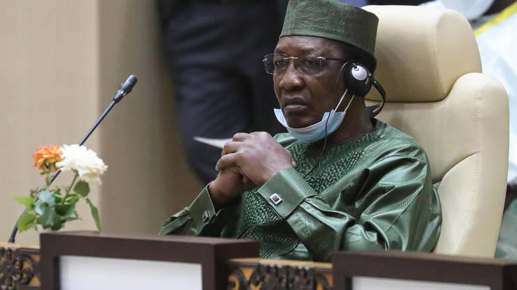 "Idriss Déby la un ""summit"" pe tema Sahelului în Mauritanie, 30 iunie 2020."