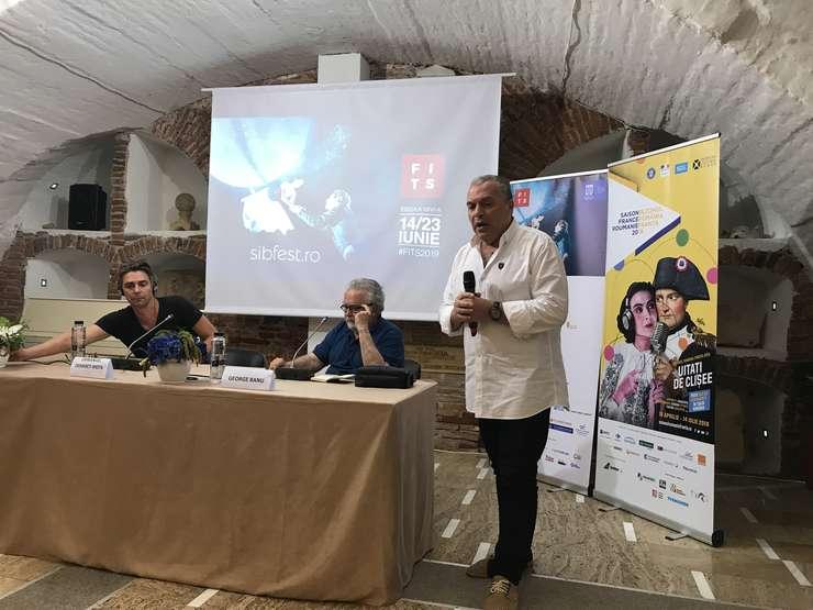 Emmanuel Demarcy-Mota, George Banu si Constantin Chiriac la centrul de conferinte Habitus, 19 iunie 2019