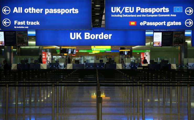 Punct de trecere a frontierei în Marea Britanie