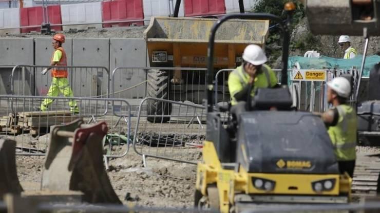 Muncitori pe un santier din Londra în 2016