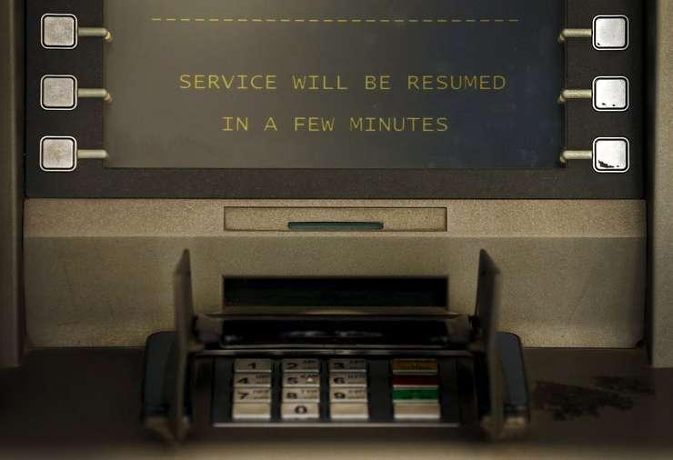Bancomat din centrul Atenei, rămas fără bani (Foto: Reuters/Cathal McNaughton)