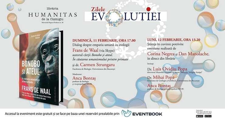 Întâlnire cu etologii Frans de Waal și Carmen Strungaru
