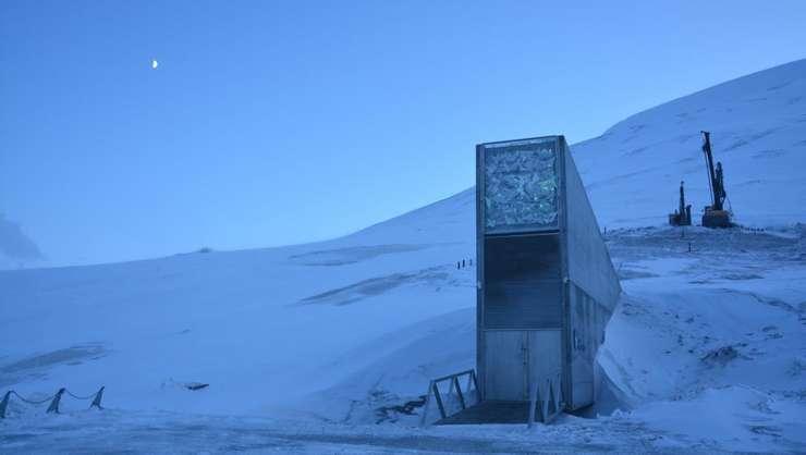 Intrarea în Rezerva Mondiala de Seminte, Svalbard, Norvegia