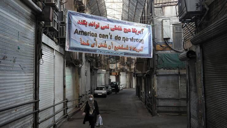 Marele bazar de la Teheran închis în ajunul Noului An persan, 19 martie 2020