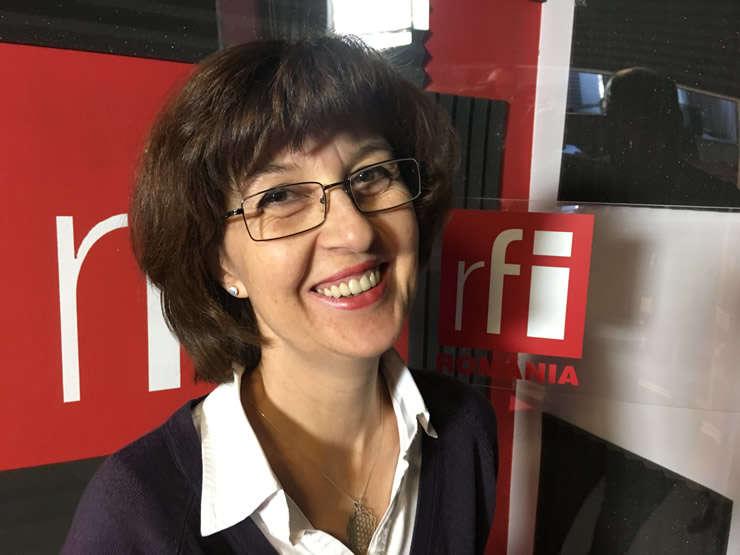 Irina Stefanescu in studioul RFI Romania