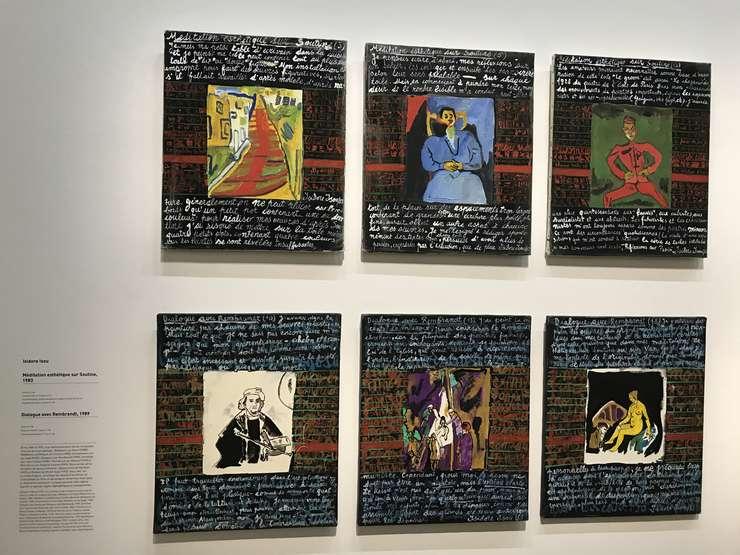Poeme grafice şi picturale de Isidore Isou
