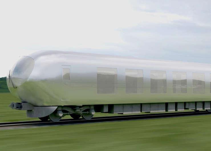 Trenul invizibil japonez (Sursa foto: www.dezeen.com)