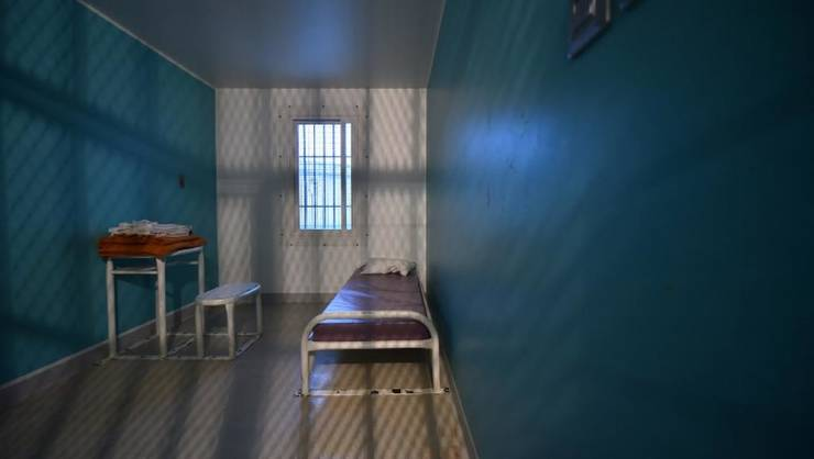 Celulà din închisoarea Condé-sur-Sarthe, la Alençon, unde era detinut jihadistul eliberat luni, 13 ianuarie 2020.