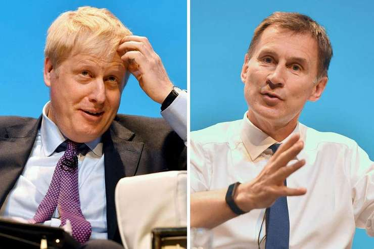 Boris Johnson (stânga) și Jeremy Hunt