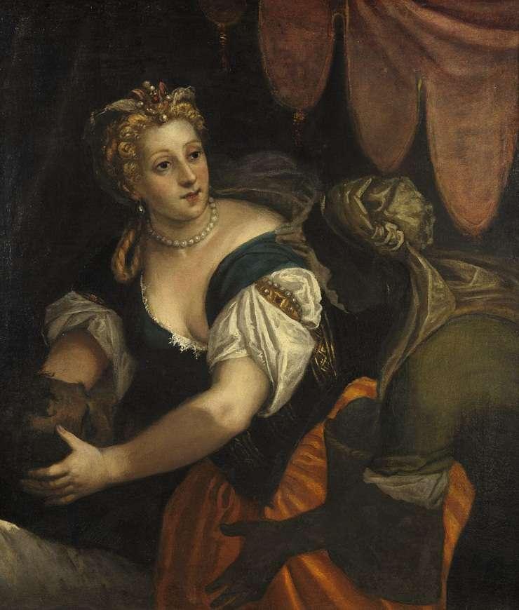 Judith ținând capul lui Holofern - Anonim după Paolo Veronese