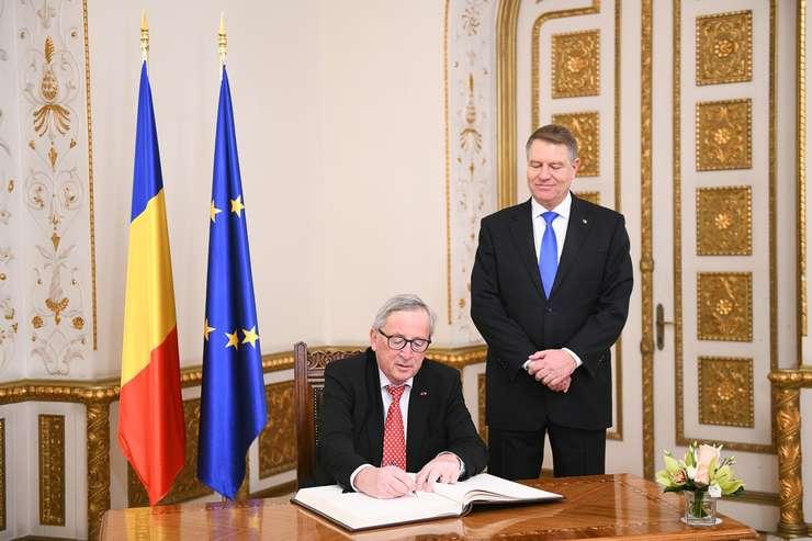 Preşedintele Klaus Iohannis l-a primit pe şeful CE, Jean-Claude Juncker (Sursa foto: presidency.ro)