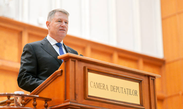 Klaus Iohannis, în Parlament-arhivă (Sursa foto: presidency.ro)