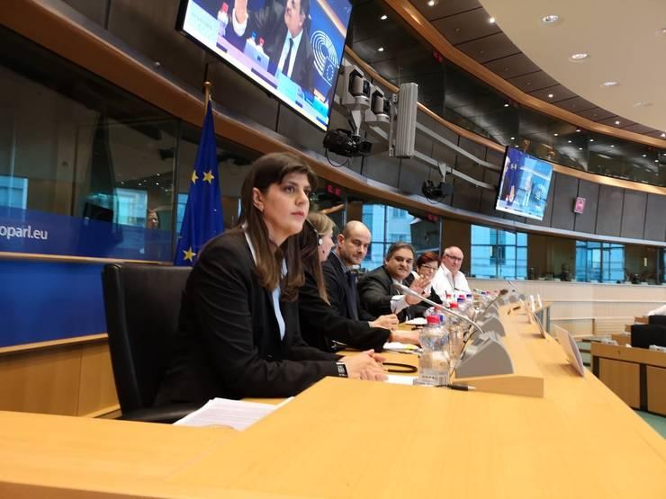 Laura Codruța Kovesi, în așteptarea începerii audierilor din Parlamentul European