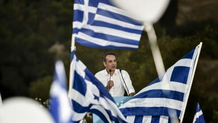 Kyriakos Mitsotakis, 4 iulie 2019, Atena.