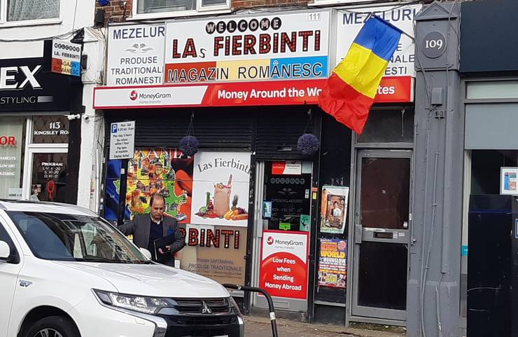Magazin românesc în vestul Londrei