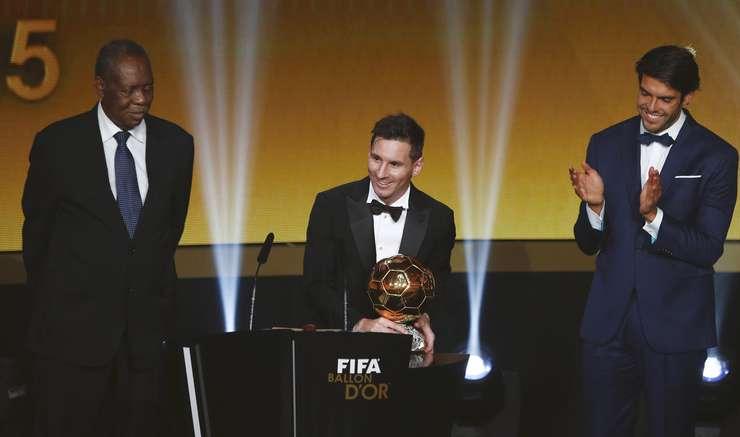 Lionel Messi, la gala Balonul de Aur, din Zurich (Foto: Reuters/Arnd Wiegmann)