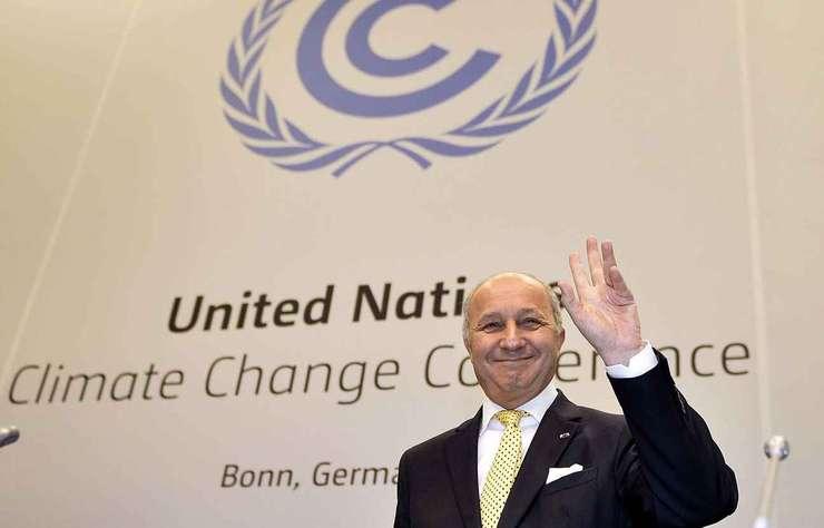 Laurent Fabius, ministrul francez de externe si presedintele conferintei COP21, la reuniunea ONU de la Bonn din 1 iunie 2015