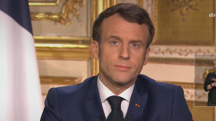 Preşedintele francez Emmanuel Macron, intervenţie televizată luni 16 martie 2020.