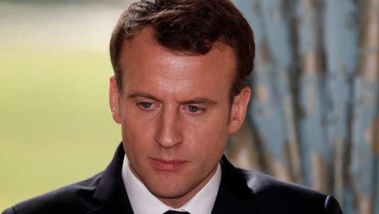 Presedintele francez Emmanuel Macron, la palatul Elysée pe 5 martie 2018
