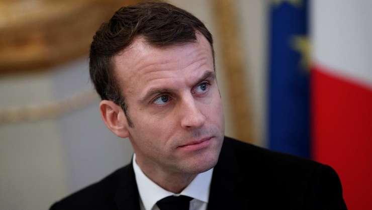 Presedintele francez Emmanuel Macron, la Palatul Elysée, pe 10 decembrie 2018.