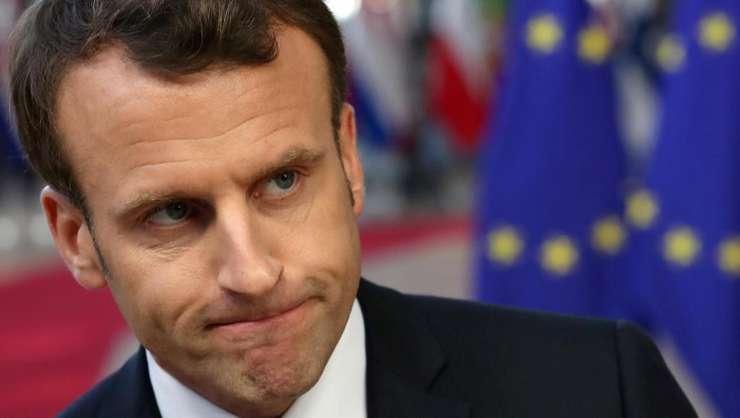 Presedintele francez Emmanuel Macron, la Bruxelles, 10 aprilie 2019