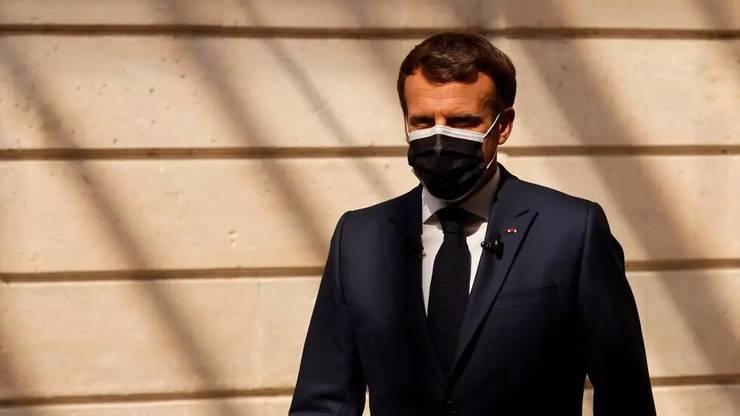 Presedintele francez Emmanuel Macron la Palatul Elysée, 10 iunie 2021.