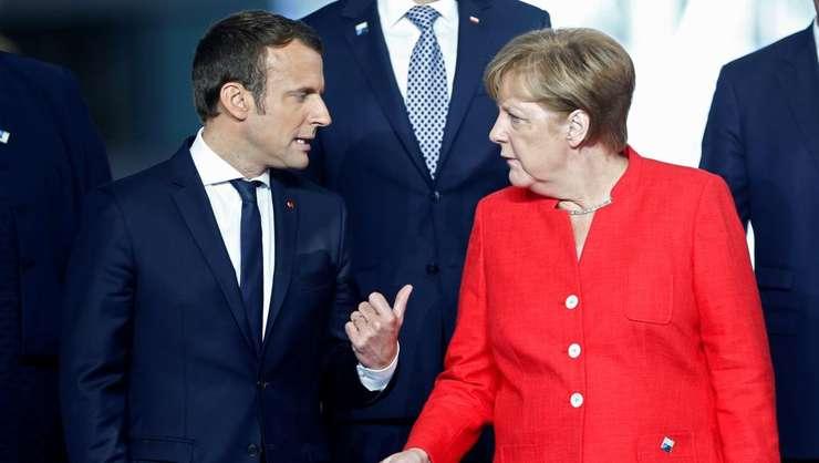 Președintele francez Emmanuel Macron și cancelarul german Angela Merkel