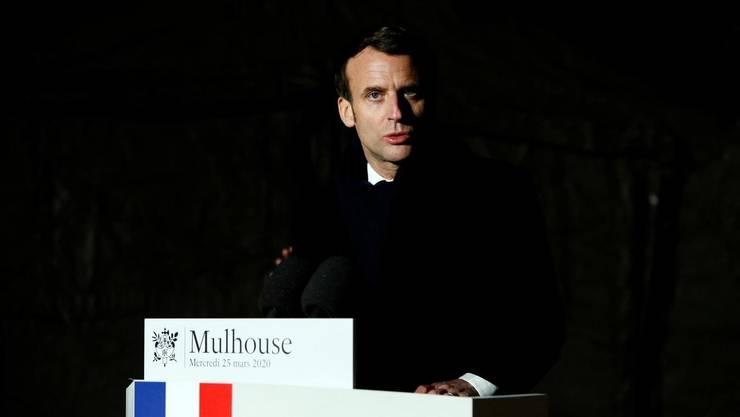 Presedintele Frantei, Emmanuel Macron la Mulhouse, 25 martie 2020