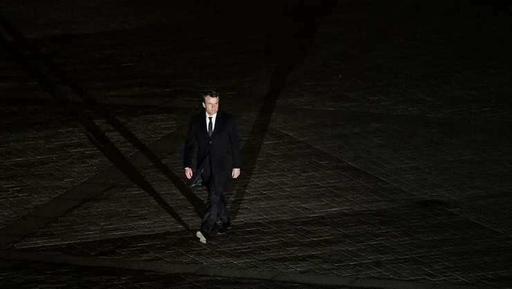 Emmanuel Macron, presedintele-ales al Frantei, în seara lui 7 mai 2017