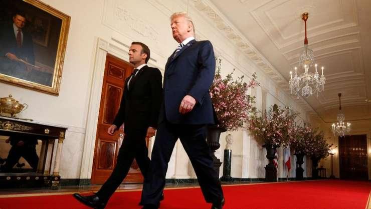 Emmanuel Mcron și Donald Trump la Washington 24 aprilie 2018