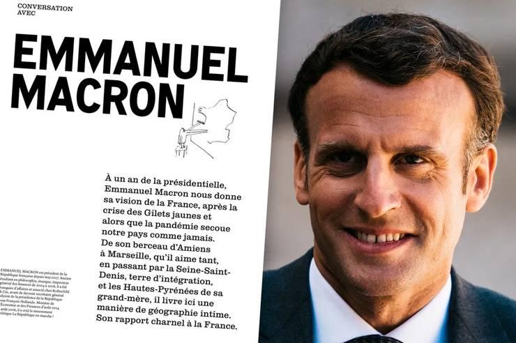Presedintele francez Emmanuel Macron acordà un lung interviu revistei trimestriale Zadig.