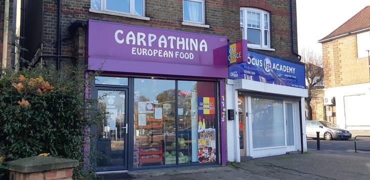 Magazin românesc în nordul Londrei