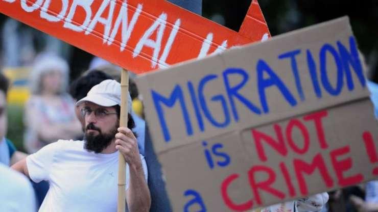 Manifestatie contra politicilor privind migratia, promovate de premierul maghiar Viktor Orban, Budapesta