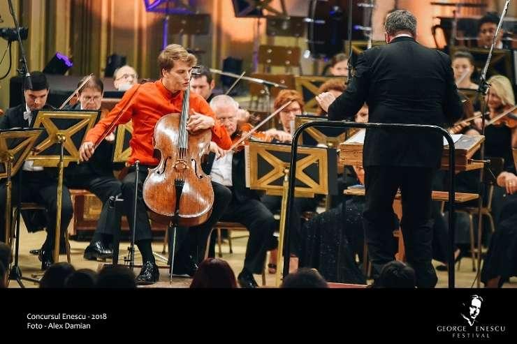 Marcel Johannes Kits din Estonia - Finala Secțiunii Violoncel a Concursului Enescu 2018
