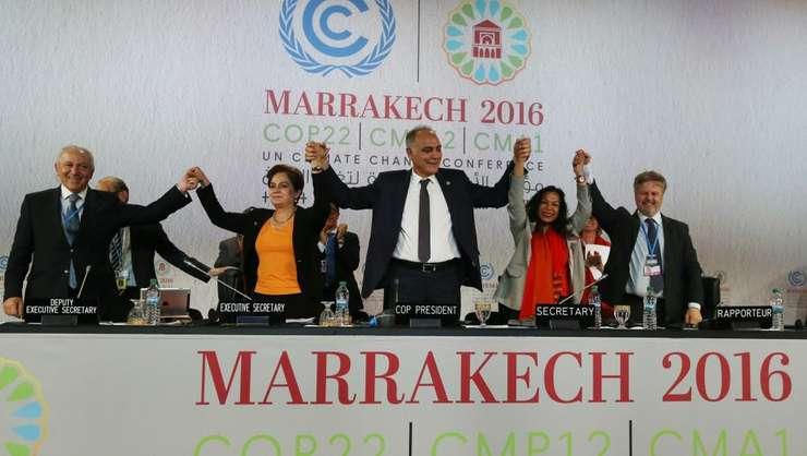 La tribuna COP22 din Marrakech, 17 noiembrie 2016
