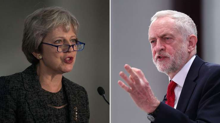 Theresa May și Jeremy Corbyn