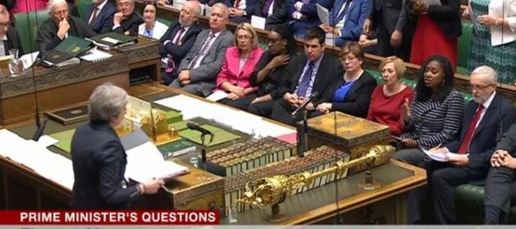 Theresa May în Camera Comunelor