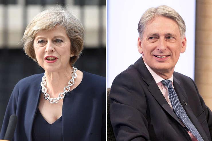 Theresa May și Phillip Hammond