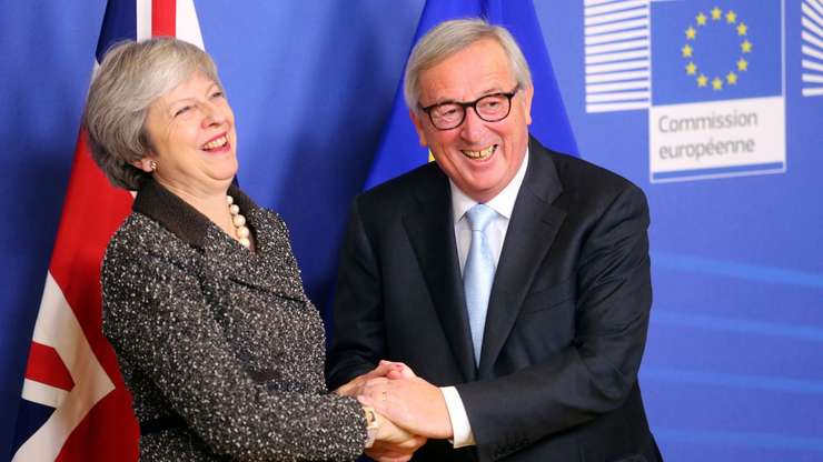 Theresa May cu Jean Claude Juncker