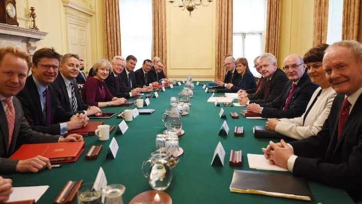 Theresa May și liderii provinciali din Regatul Unit