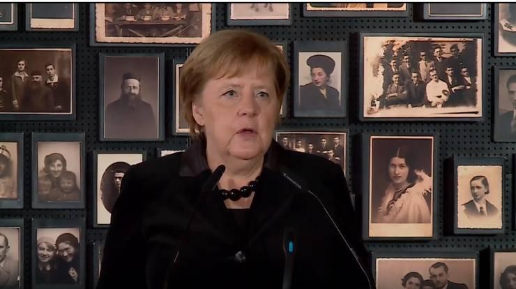 Cancelarul german Angela Merkel vizitează Auschwitzul