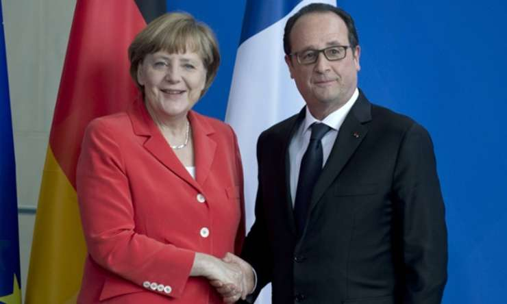"""Pact franco-german pentru """"mai multă Europă"""""""