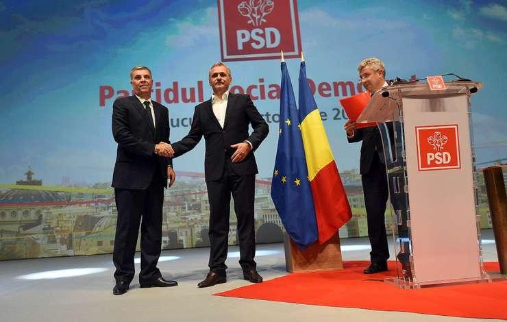 Valeriu Zgonea, Liviu Dragnea şi Florin Iordache, la Congresul PSD (Foto: www.psd.ro)