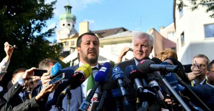 Ministrii de Interne din Italia si Germania, Matteo Salvini si Horst Seehofer, pe 11 iulie, Innsbruck, Austria